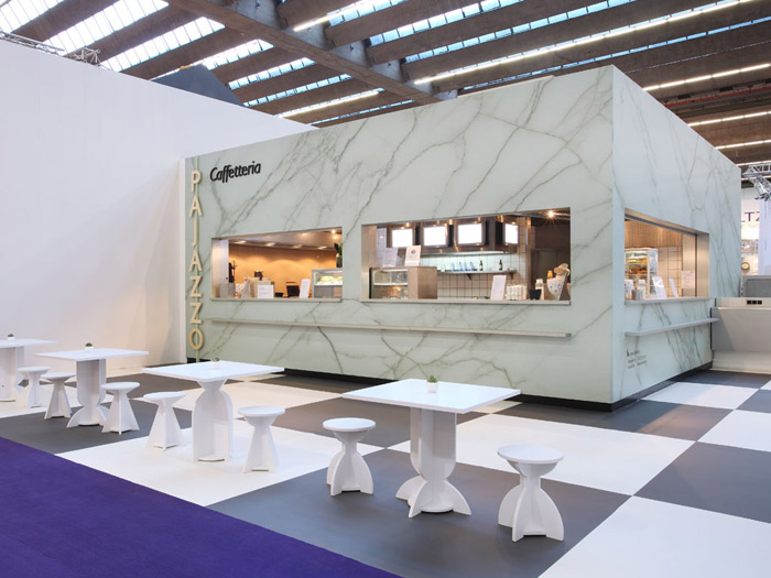 Cafes for messe frankfurt objecthood for Interior design messe