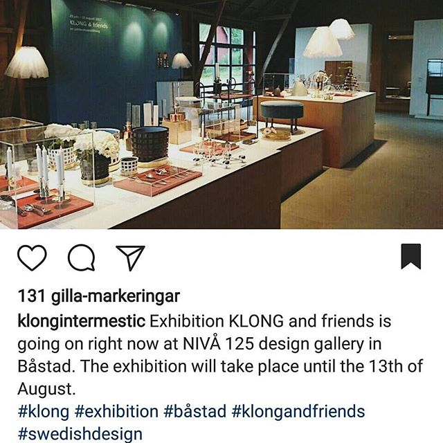 Proud to be part of KLONG and friends exhibition at Nivå125 - pay a visit if you are in Skåne! #klongandfriends